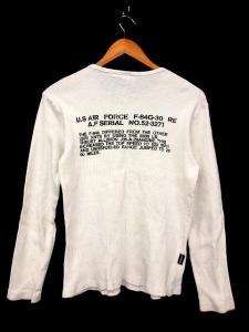 アヴィレックス AVIREX Tシャツ 長袖 ワッフル プリント 白系 M ※HM 161025 メンズの買取実績