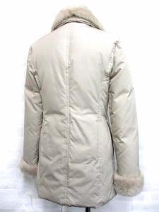 ヨンドシー 4℃ ダウン コート ジャケット ラビットファー付き ジップアップ ベージュ 38の買取実績