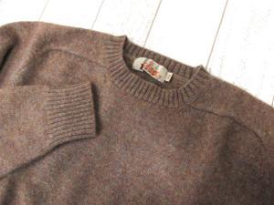 バラクータ BARACUTA ニット セーター ウール クルーネック 茶色 ブラウン Lの買取実績