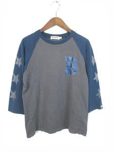 アベイシングエイプ A BATHING APE Tシャツ ラグラン プリント M 160821