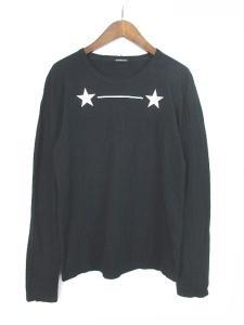 アンドゥムルメステール ANN DEMEULEMEESTER Tシャツ 長袖 プリント 黒 ブラック S 160821