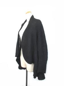 ワイズ Y's カーディガン ニット 羽織 モヘヤ混 ボタンレス 2 黒 ブラック 161001 レディースの買取実績