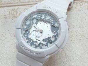 【Baby-G/ベビージー】 カシオ BGA-134-7BDR ネオンダイアル ホワイト