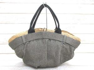 【EBAGOS/エバゴス】 レザー使い 天然素材 帽体 かごバッグ ヘリンボーンの買取実績