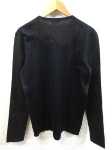 未使用品 バレンシアガ BALENCIAGA 国内正規 プリント 麻切り返し 長袖 Tシャツ カットソー ロンT S ブラック 春夏の買取実績