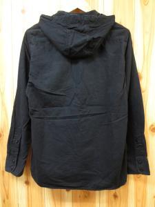 アヴィレックス AVIREX エポレット フード付き ミリタリーシャツ 黒 M 春秋の買取実績