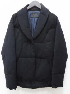 アンテプリマ ANTEPRIMA ダウン ジャケット ショールカラー ウール 38 紺