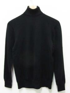バーニーズニューヨーク BARNEY'S NEWYORK ニット セーター 長袖 タートル ウール M 黒 メンズ