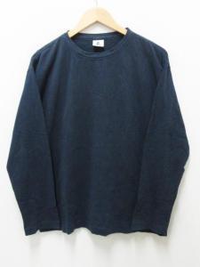 フォーティーファイブアールピーエム 45rpm Tシャツ 長袖 カットソー ロンティ 丸首 4 紺 ネイビー
