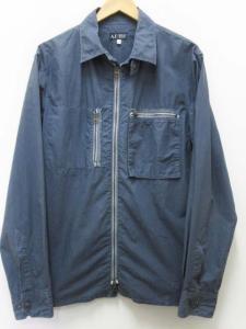 アルマーニ ジーンズ ARMANI JEANS シャツ ジャケット ジップ 紺ネイビー XL メンズの買取実績