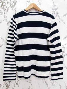 コムデギャルソンコムデギャルソン COMME des GARCONS COMME des GARCONS カットソー Tシャツ 長袖 ボーダー柄 切替 ホワイト ネイビー Mの買取実績