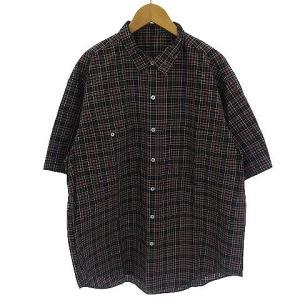 パパス Papas チェックシャツ オーバーサイズ ブラック の買取実績