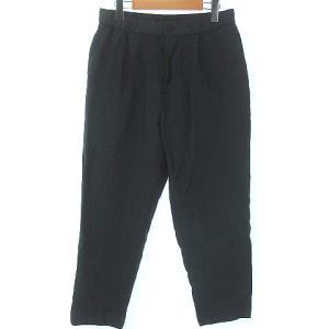 エイトン ATON 21SS wool linen easy tapered pants 06 ブラックの買取実績