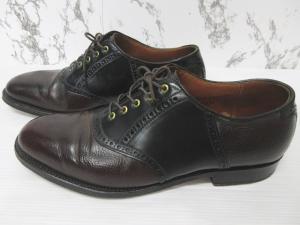 オールデン ALDEN シップス SHIPS 別注 30周年記念 サドルシューズ ビジネスシューズ 革靴 レザー 8 1/2 26.5cm バーガンディー ブラック シューツリー シューキーパー セットの買取実績