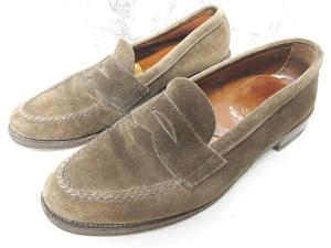 オールデン ALDEN ビューティー&ユース ユナイテッドアローズ 別注 コインローファー スエード 革靴 茶 ブラウン 9 27cm