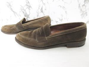 オールデン ALDEN ビューティー&ユース ユナイテッドアローズ 別注 コインローファー スエード 革靴 茶 ブラウン 9 27cmの買取実績