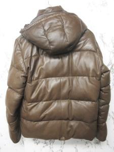 アヴィレックス AVIREX VARSITY ダウンジャケット ダウンコート ラムレザー 革ジャン フード 茶 ブラウン L 6181028の買取実績