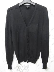 アレキサンダーマックイーン ALEXANDER MCQUEEN カーディガン ニット ウール ロゴ 刺繍 長袖 黒 XS