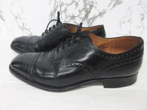 チャーチ church's ディプロマット DIPLOMAT レザーシューズ 革靴 セミブローグ メダリオン ビジネスシューズ 黒 ブラック 70 F 73 約25.5cmの買取実績