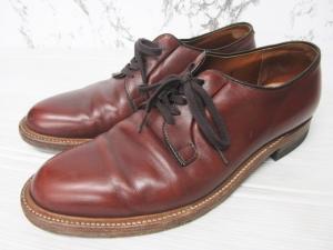 オールデン ALDEN プレーントゥ シューズ 革靴 ビジネスシューズ レザー 赤茶 11 約29cm