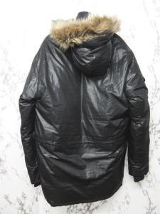 アヴィレックス AVIREX ダウンジャケット ダウンコート ブルゾン 比翼デザイン 黒 ブラック Lの買取実績