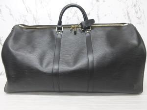 ルイヴィトン LOUIS VUITTON キーポル 55 エピ ボストンバッグ 旅行鞄 レザー ノワール 黒