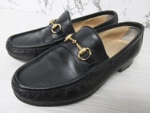 グッチ GUCCI ホースビット ローファー 革靴 レザーシューズ 黒 ブラック 34 1/2 21.5cm 1011 レディース