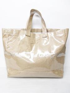 コムデギャルソン COMME des GARCONS トートバッグ ビニール PVC ショッパー クリア ベージュ 1124 メンズ レディースの買取実績