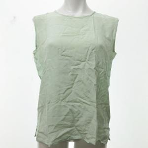 シャネル CHANEL ヴィンテージ シルク ノースリーブ シャツ ココマーク 薄緑の買取実績