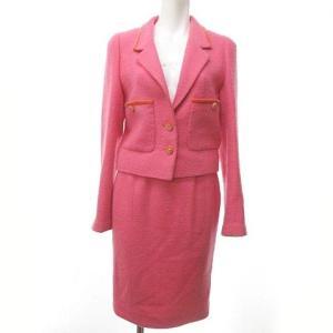 シャネル CHANEL ヴィンテージ 96P スカート スーツ セットアップ ツイード ココマーク ピンク の買取実績