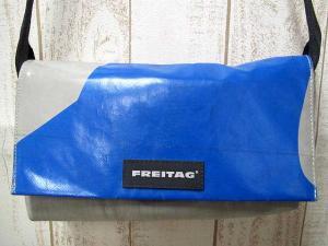 フライターグ FREITAG F71 LAURA ローラ メッセンジャーバッグ ミニショルダーバッグ ハンドバッグ 廃盤 ブルー × グレー