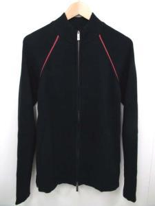 アルマーニ コレツィオーニ ARMANI COLLEZIONI ニット トラックジャケット ジップアップ ブラック 黒 50 1004OK メンズ