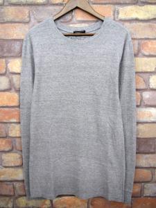 【BALMAIN/バルマン】 霜降り 長袖 カットソー Tシャツ S グレー メンズ