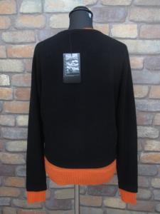 未使用品 【Y-3/ワイスリー】 レイヤード カーディガン ニット セーター S ヨウジヤマモト 黒 オレンジ レディースの買取実績
