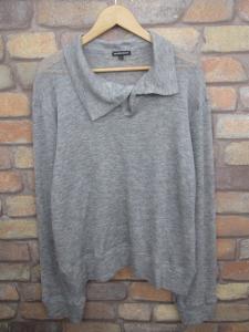 アンドゥムルメステール ANN DEMEULEMEESTER 襟変形 ニット セーター カシミヤ シルク 薄手 長袖 S グレー メンズの買取実績
