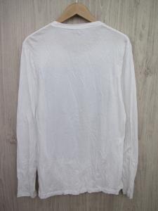 ニールバレット Neil Barrett 長袖 Tシャツ カットソー ロンT S 白 黒 コサージュ ブラック メンズの買取実績
