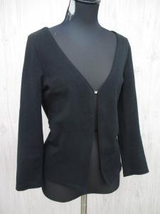 ヨンドシー 4℃ 七分袖 ニット カーディガン 羽織り ビジュー 黒 レディース 38/L123 レディース