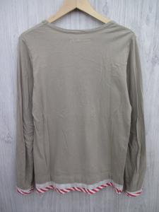 アレキサンダーリーチャン AlexanderLeeChang レイヤード Tシャツ カットソー 長袖 深Uネック size0 ベージュ 赤 メンズ/N54 メンズの買取実績