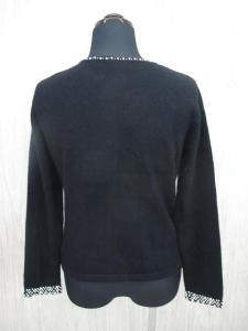 エムズグレイシー M'S GRACY カーディガン ニット セーター パール 花コサージュ 38 黒 ブラック レディース/C241 レディースの買取実績