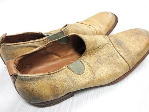 ポールハーデン Paul Harnden シューズ スリッポン 靴 加工レザー サイドゴア ベージュ  IBSの買取実績