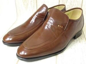 未使用品 【BALMAIN/バルマン】 Uチップ レザー ビジネスシューズ 紳士靴 ブラウン 7.5