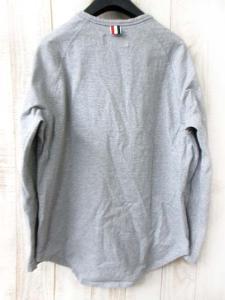 トムブラウン THOM BROWNE Tシャツ カットソー 長袖 トリコロール ヘンリーネック ラグラン グレー 2の買取実績