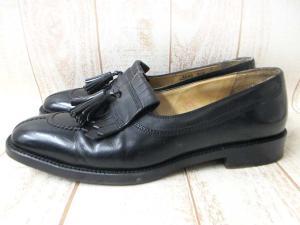 コールハーン Bragano COLE HAAN 靴 ローファー 9.5 D タッセル キルト レザー 黒 ブラックの買取実績