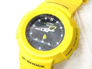 未使用品 ジーショック G-SHOCK 腕時計 ガラパゴス AW-500D-9E2T デジタル アナログ 黄 イエロー