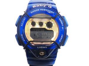 【Baby-G/ベビージー】 美品 BG-1005A Jelly MarineSeries/ジェリー・マリン・シリーズ デジタル 腕時計 スケルトンブルー