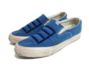ビズビム VISVIM スリッポン 靴 シューズ12(約30cm相当) 青 ブルー系 白 ホワイト系 k2