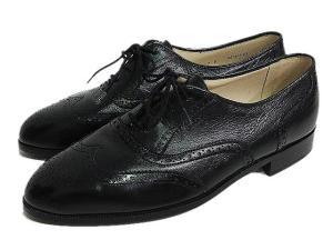 バリー BALLY レースアップシューズ 靴 ウイングチップ 本革 レザー 7E 25.5cm相当 黒 ブラック