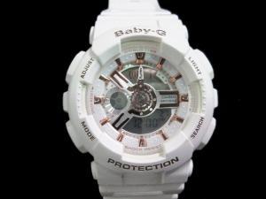 ベビージー Baby-G カシオ CASIO 腕時計 2014 ラバーズコレクション クォーツ 5338 BA-110LB 白 ホワイト系