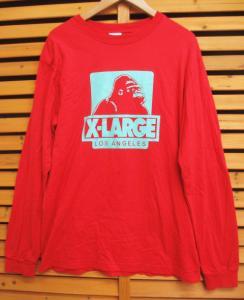 【X-LARGE/エクストララージ】●ロゴ長袖Tシャツ カットソーL赤【ブランド古着ベクトル】【フクウロ】141230 0003