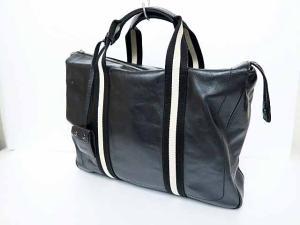 バリー BALLY 鍵付きブリーフケース ハンドバッグ ビジネスバッグ TAPRUS黒ブラック ブランド古着ベクトル フクウロ●▲160921 0045C メンズ